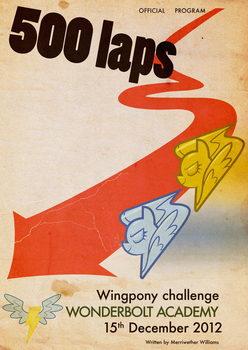 500 laps Wingpony challenge by Skeptic-Mousey
