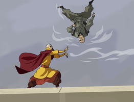 Tenzin Vs Zaheer -Battle of the Airbending Masters by Juggernaut-Art
