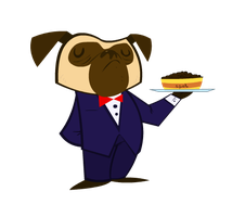 Pugly Waiter by waymonds