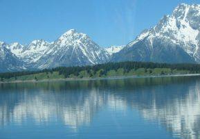 Teton Reflection by lupinelover