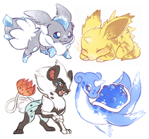 Pokemon fusions 3 by Kiwibon