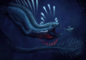 deep sea dragon by Apsaravis