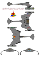 Klingon  D7 Class Battle Cruiser by bagera3005