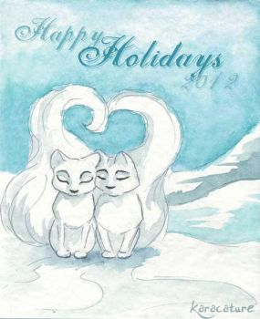 Arctic Foxes 2012 by karacature