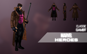 Marvel Heroes: Gambit (Classic) by LEMOnz07