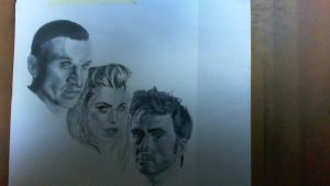 Really Blurry Doctor Who Art by FreakInABox