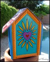 License Plate Bird House - Backside by andromeda