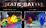 Freddi Fish & Luther vs. Marlin & Dory by cartoonfan22