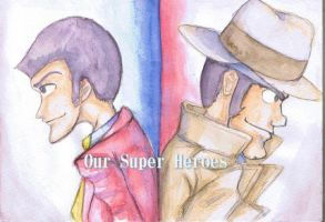 Lupin and Zenigata! by emanon9988