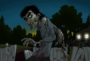 That awkward moment when the zombie hears you... by fergil