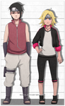 Sarada and Boruto genderbend by Ruu-k