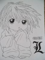 Chibi L from Deathnote by Shlyki84