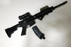 AR-15 (replaced front sight post) by Akikyoushi