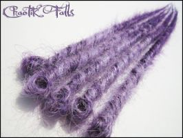 Chaotik Falls Lavender To Purple Synthetic Dreads by ChaotikFalls
