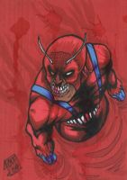 Zombie Ant Man PSC Sketch Card by chris-foreman