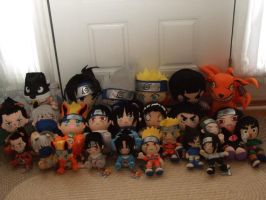 My Naruto Plush Collection by Itachislilgirl