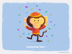 Happy monkey year by KellerAC