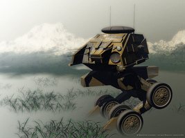 Electronic warfare mech by Kandzaemon