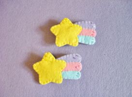 Kawaii Pastel Fairy Kei Rainbow Shooting Star by OkashiBurochi