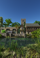 Ye Olde English Village Pond by dr-druids