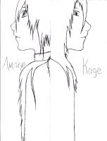Amaiye and Kage - We Are One - sketch by Angellore69
