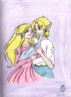 Link, Zelda, and the Baby by AngelicDragonElf