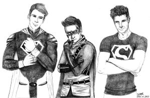 Superman, Robin, Superboy by SORR93