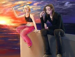 Fanart: The bellybuttons, Dan and Karine by hadh