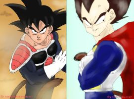 Vegeta and Kakarot by DBZfun4ever