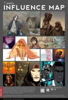 Influence Map: March 2013 by TawnART