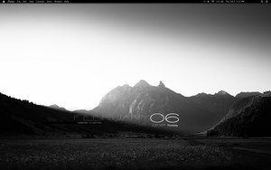 Desktop - Mac - Monochrome OS X by Mizkipz