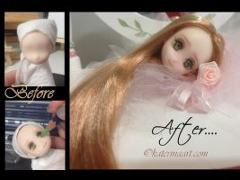 Obitsu Customized ooak doll Head by Katerina-Art
