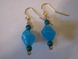 Turquoise Earrings by bohemiandog