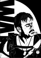 The Comedian - Sketchcard by adsta