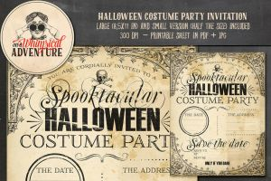 Halloween Costume Party Invitation by Whimsical-Adventure