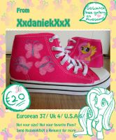Fluttershy shoes by Looji