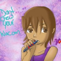 Dont chew your wacom by nyunyu-chan