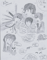 Hey look, I drew the Beatles. by rivka-nikola