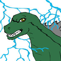 Quick after X-mas with Godzilla for Cindy by Poorartman