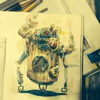 Steampunk R2D2 by NachoBoyIQ