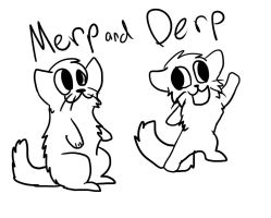 Merp and Derp by iW-O-L-F