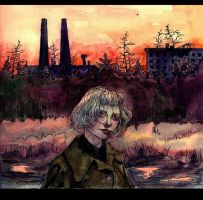 INDUSTRIAL BLOODY SUNSET by A-SINUS