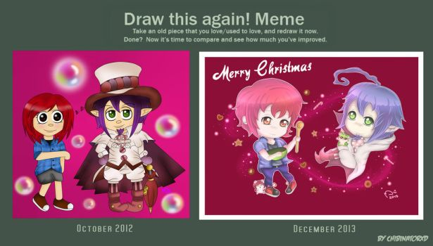 Draw this again meme - Betty and Mephisto by ChibinatorXD