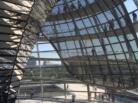 The Reichstag dome in Berlin by Cartedumonde