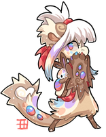 #461 Blessed ChMythical Bagbean w/m - Easter bunny by griffsnuff