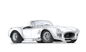 1966 Shelby Cobra 427 Drawing by Vertualissimo