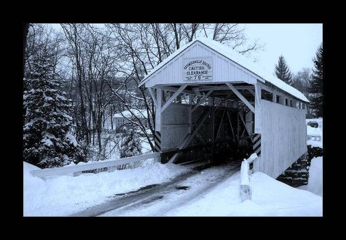 Carmichaels Bridge In Winter by friedzombiebrain