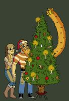 Beard Fist and Lady Casper and the Tree Trimming by JakRabbit96