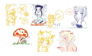 Last doodles of 2010 by moonkittyproductions