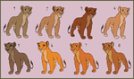 More Lioness Adoptables - CLOSED by HydraCarina